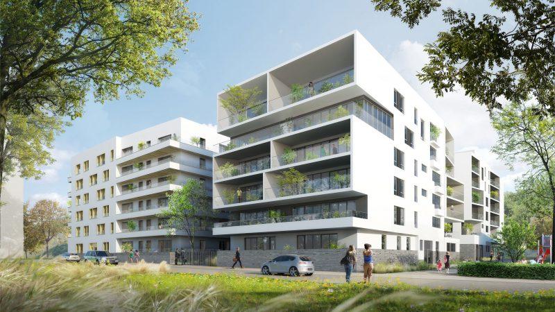 Ensemble immobilier de 160 logements mixtes Zac de l'Industrie à Lyon-Vaise