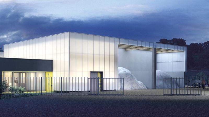 Construction du parc des services techniques municipaux de Seynod