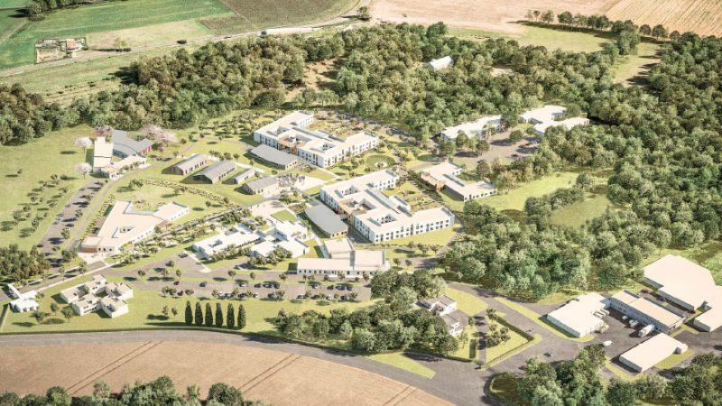 """Reconstruction de l'hôpital """"Le Valmont"""" (260 lits) à Montéléger (Valence)"""