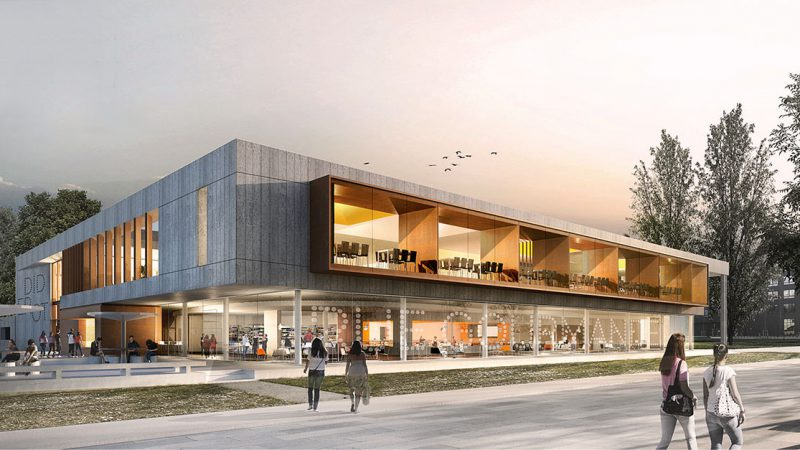Construction du restaurant universitaire Diderot – Cœur de campus à Saint-Martin d'Hères