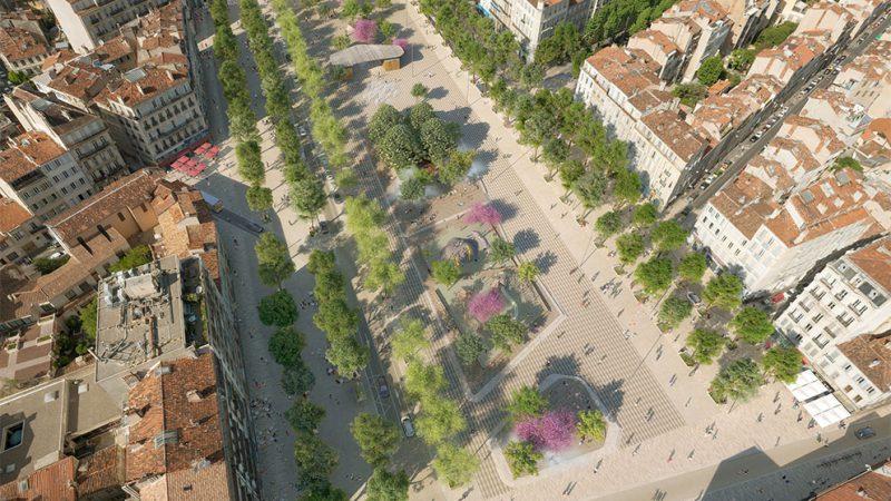Aménagement de la Place Jean Jaurès / La Plaine à Marseille