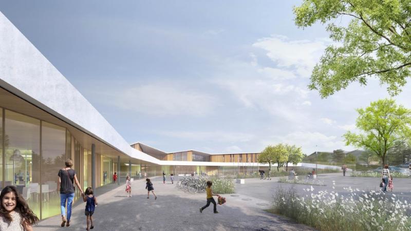"""Reconstruction de l'école maternelle """"Les Pottières"""" à Ville La Grand"""