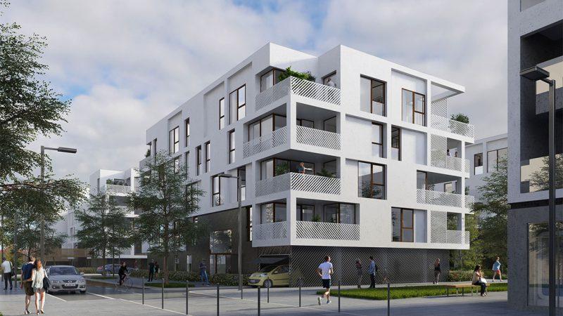 Construction de 86 logements sociaux « Balcons de Sermenaz » à Rillieux-La-Pape