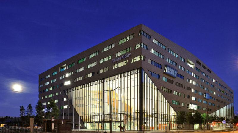 Construction du nouvel hôtel de Région Rhône Alpes à Lyon