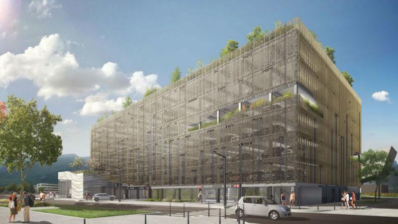 CONSTRUCTION DU PARKING AÉRIEN PAVILLON DE LA MOBILITÉ A GRENOBLE (38)